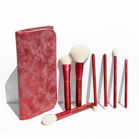 Set De 7 Brochas Con Estuche Rojo